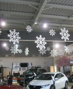 Śnieżynki styropianowe 100cm