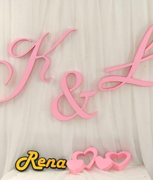 monogramy na wesele