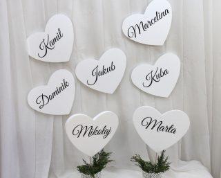 Serca z imionami
