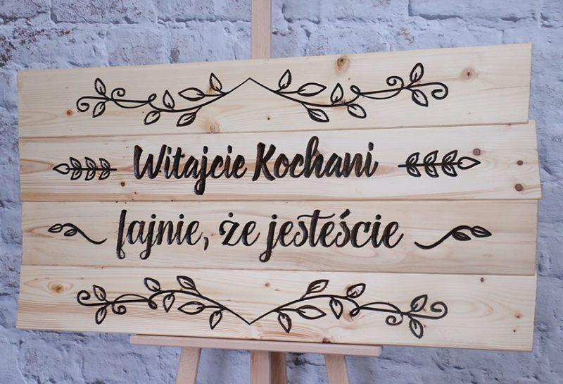 Rustykalne szyldy - tablice