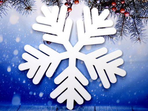 Gwiazdki styropianowe, Śnieżynki, Płatki śniegu, Śnieżynka styropianowa