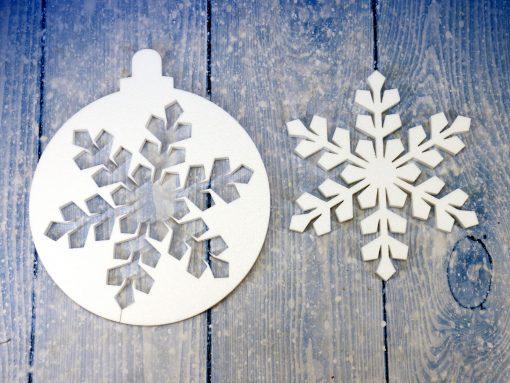 Gwiazdki styropianowe, Śnieżynki, Płatki śniegu