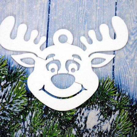 Renifery świąteczne styropianowe ozdoby dekoracje